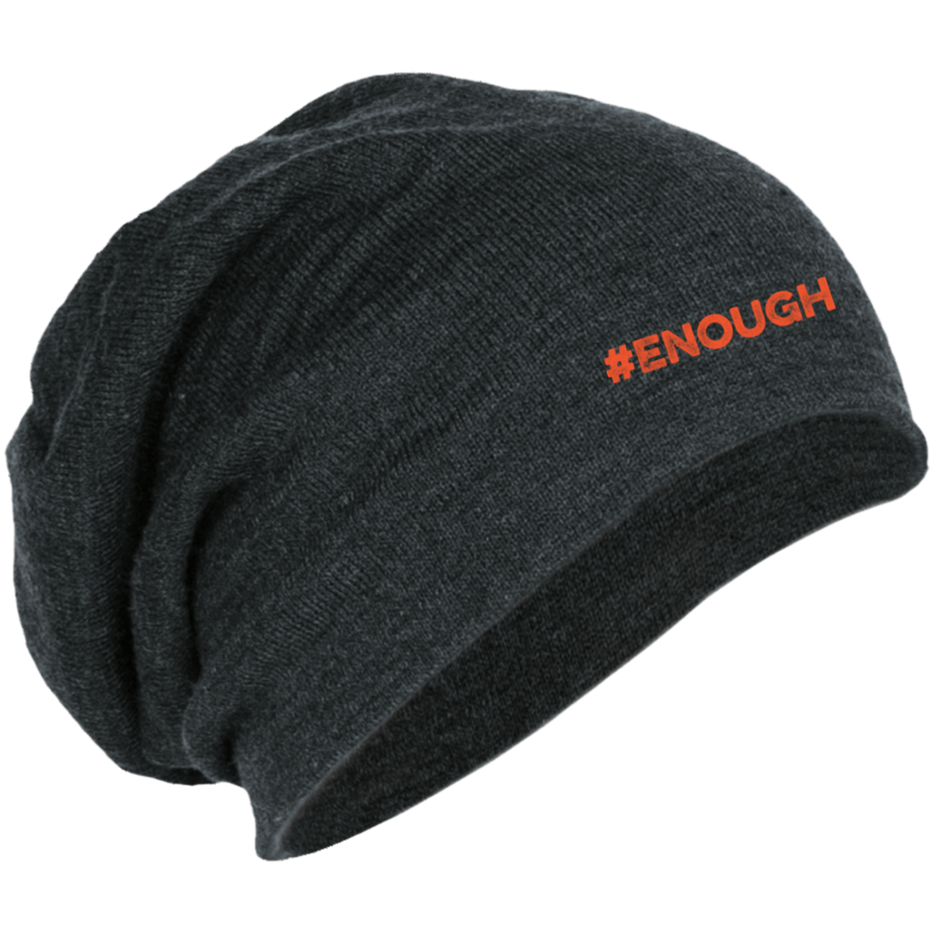 #Enough Orange Slouch Beanie