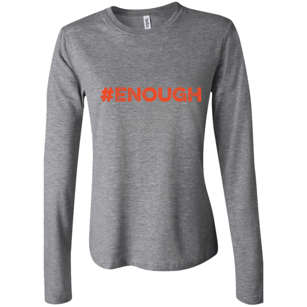 #Enough Orange Junior Fit Long Sleeve T