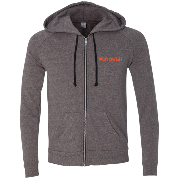 #Enough Orange Men's French Terry Full Zip