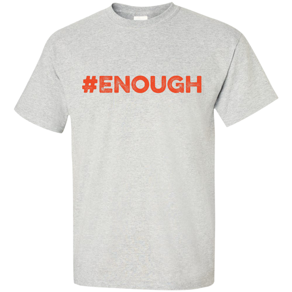 #Enough Orange Logo Ultra Cotton T-Shirt