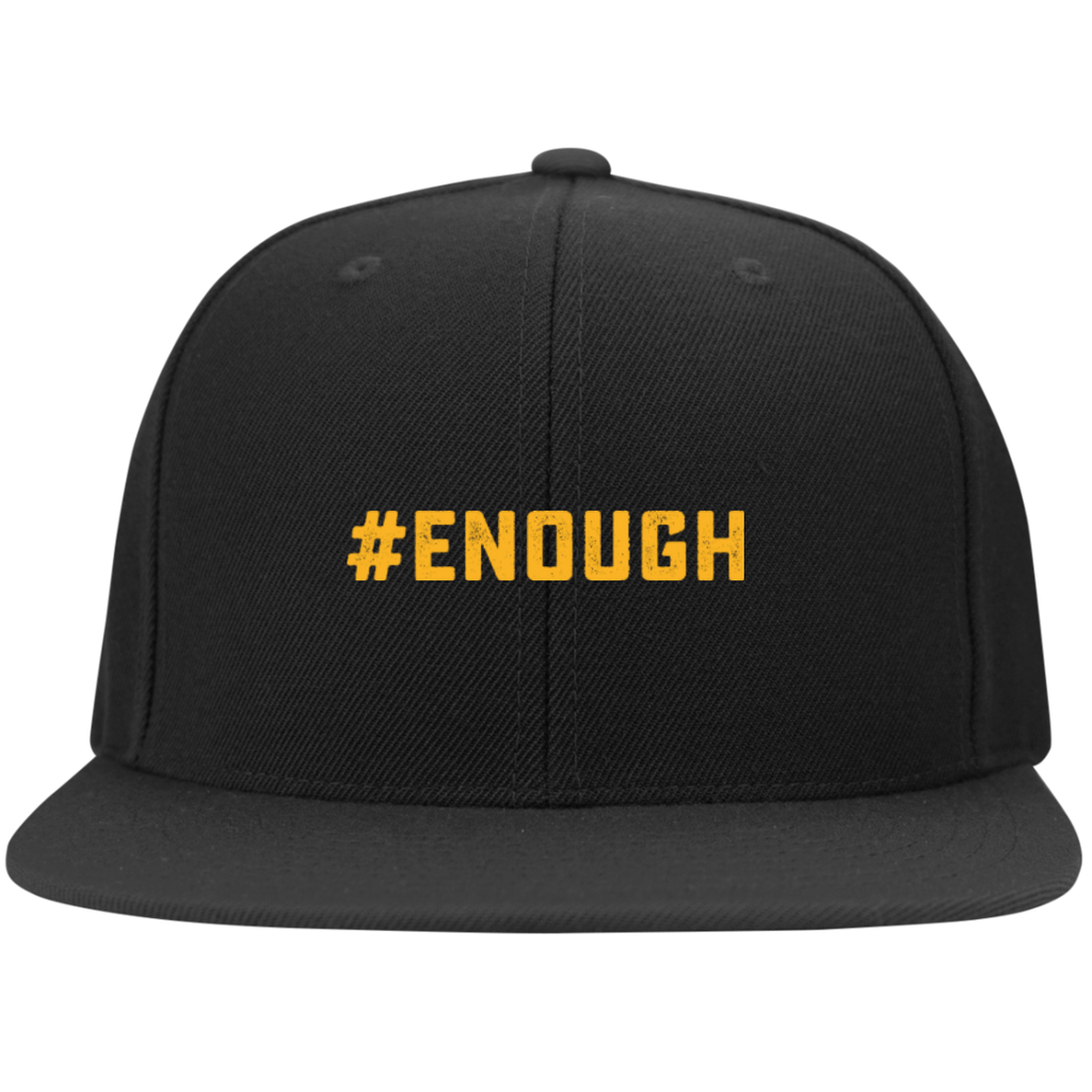 #Enough Flat Bill High-Profile Snapback Hat
