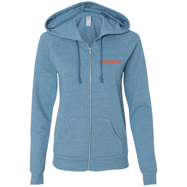 #Enough Orange Ladies' French Terry Full Zip