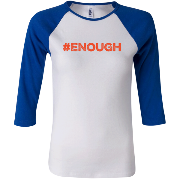 #Enough Orange Junior 3/4 Baseball T