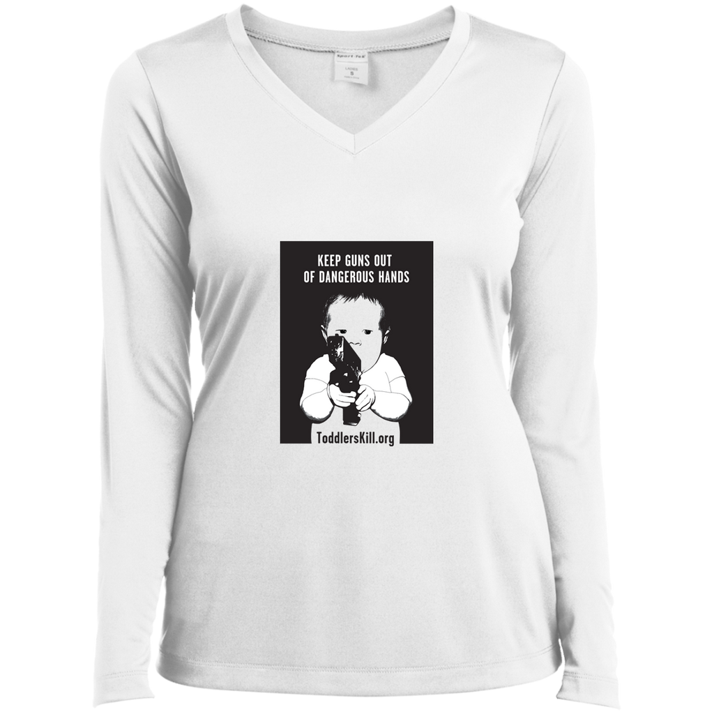 toddlers Kill-Ladies Long Sleeve Performance Vneck Tee
