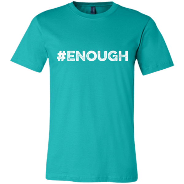 Orange #Enough - Bella + Canvas Unisex Jersey Short-Sleeve T-Shirt