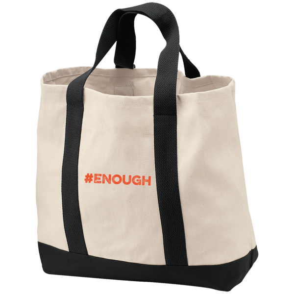 Enough 2-Tone Shopping Tote