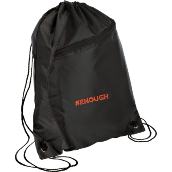 #Enough Orange Colorblock Cinch Pack