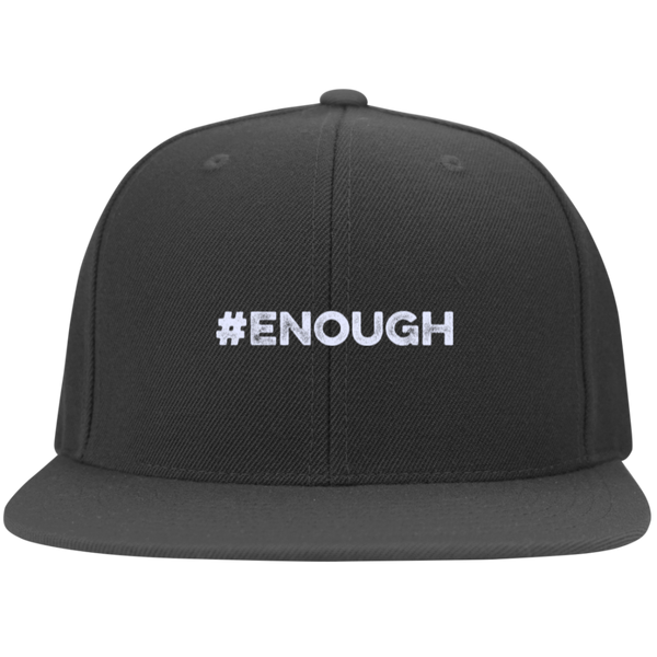 Enough Flat Bill Twill Flexfit Cap