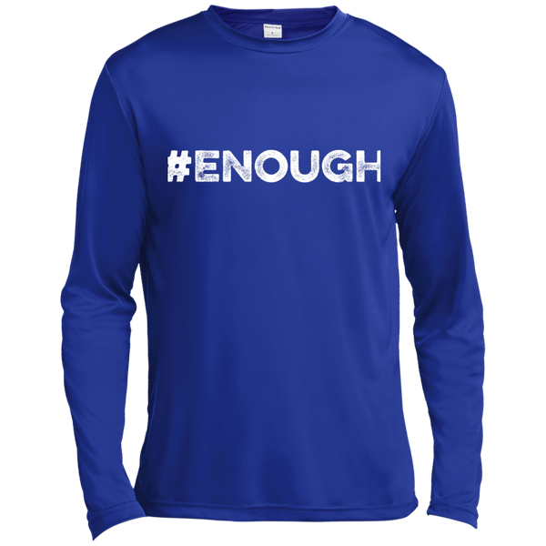 Enough White Long Sleeve Moisture Absorbing Shirt