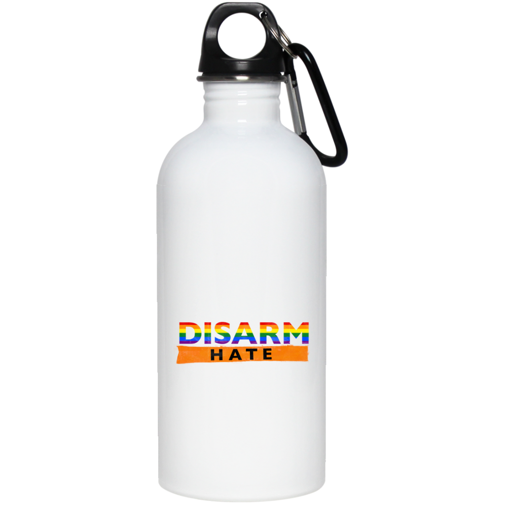 Disarm hate-20 oz Stainless Steel Water Bottle