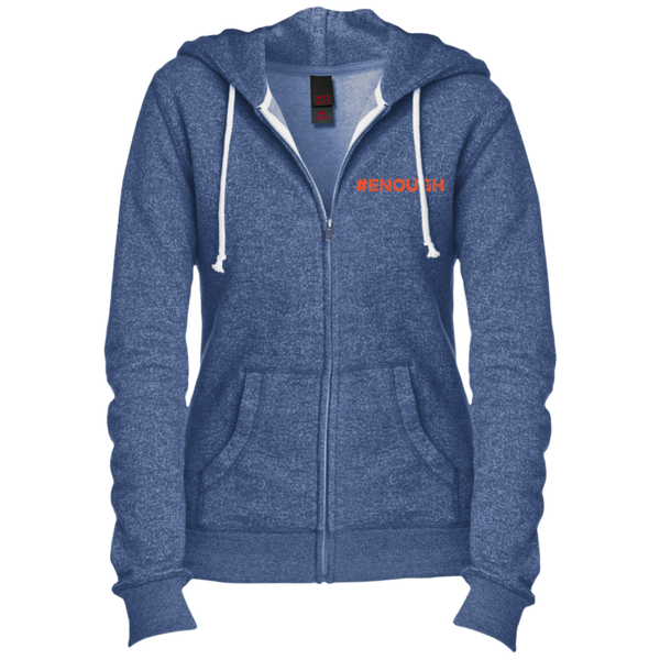 #Enough Orange Juniors' Fitted Full-Zip Hoodie