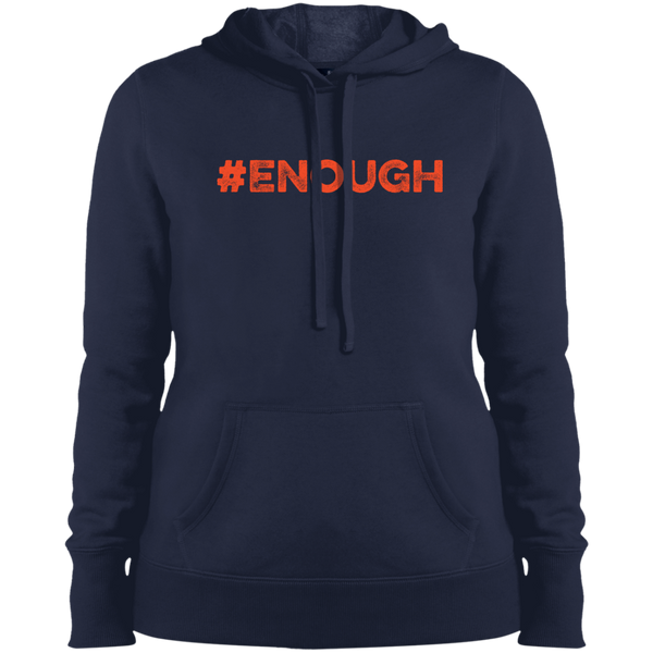 #Enough Orange Ladies Pullover Hoodie