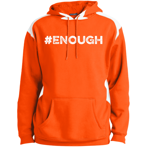 #Enough White Unisex Colorblock Pullover