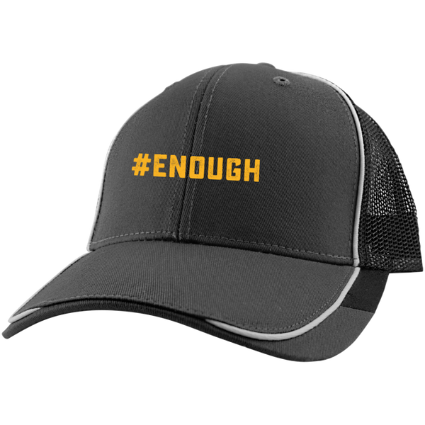 #Enough Logo Colorblock Mesh Back Cap