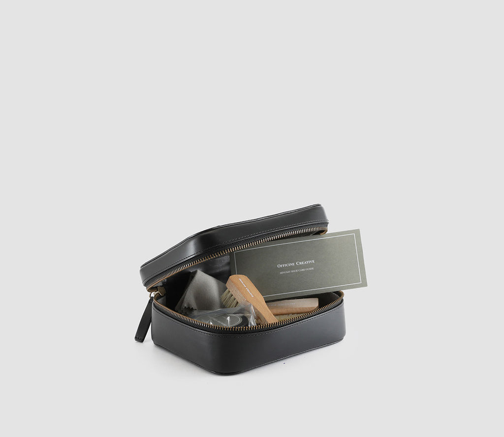Mini Kit Shoecare Nero
