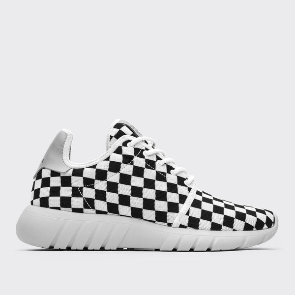 FLOW | B&W CHECK KNIT / Lateral View