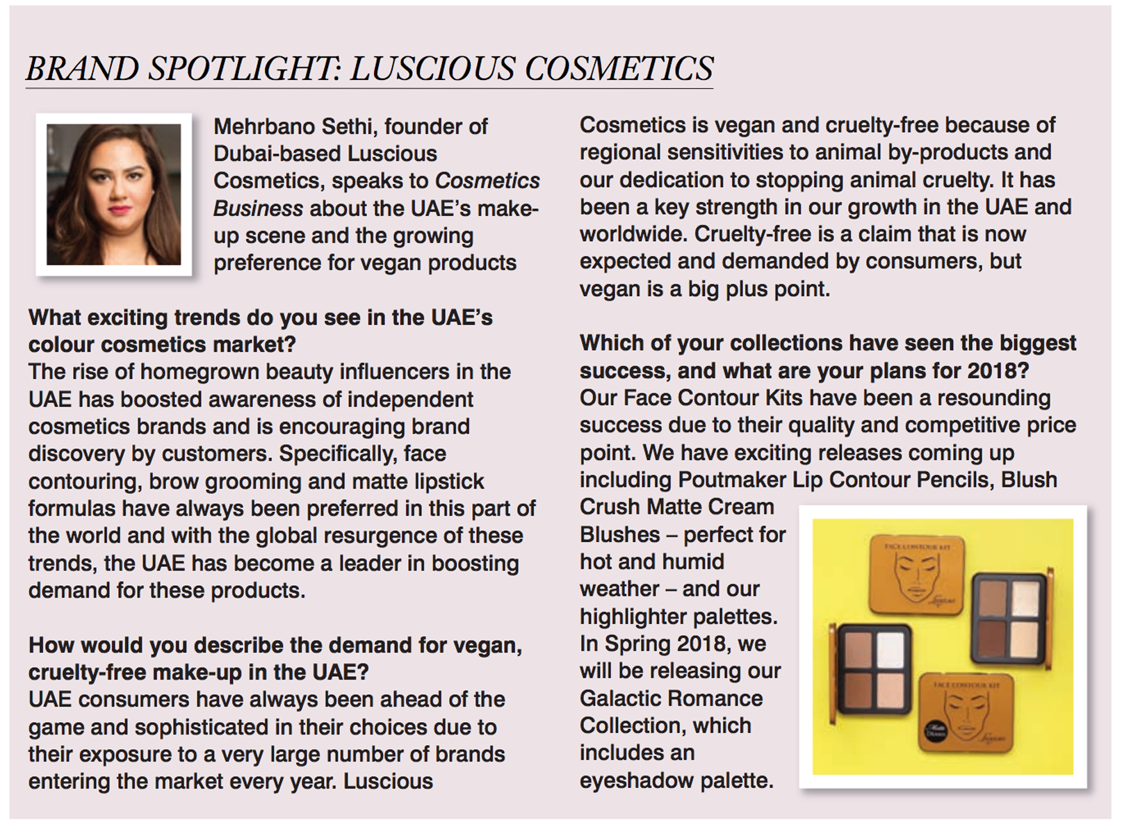 Cosmetics Business November 2017