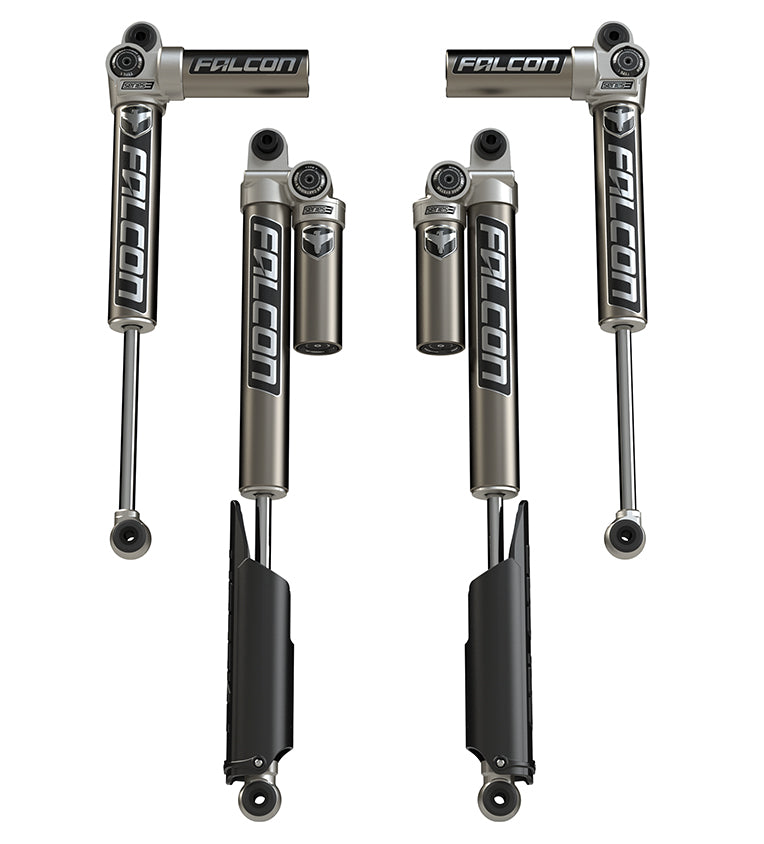 "TeraFlex Jeep JLU / JL Falcon Series 3.1 Piggyback Shocks (2-4.5"" Lift) - All 4"