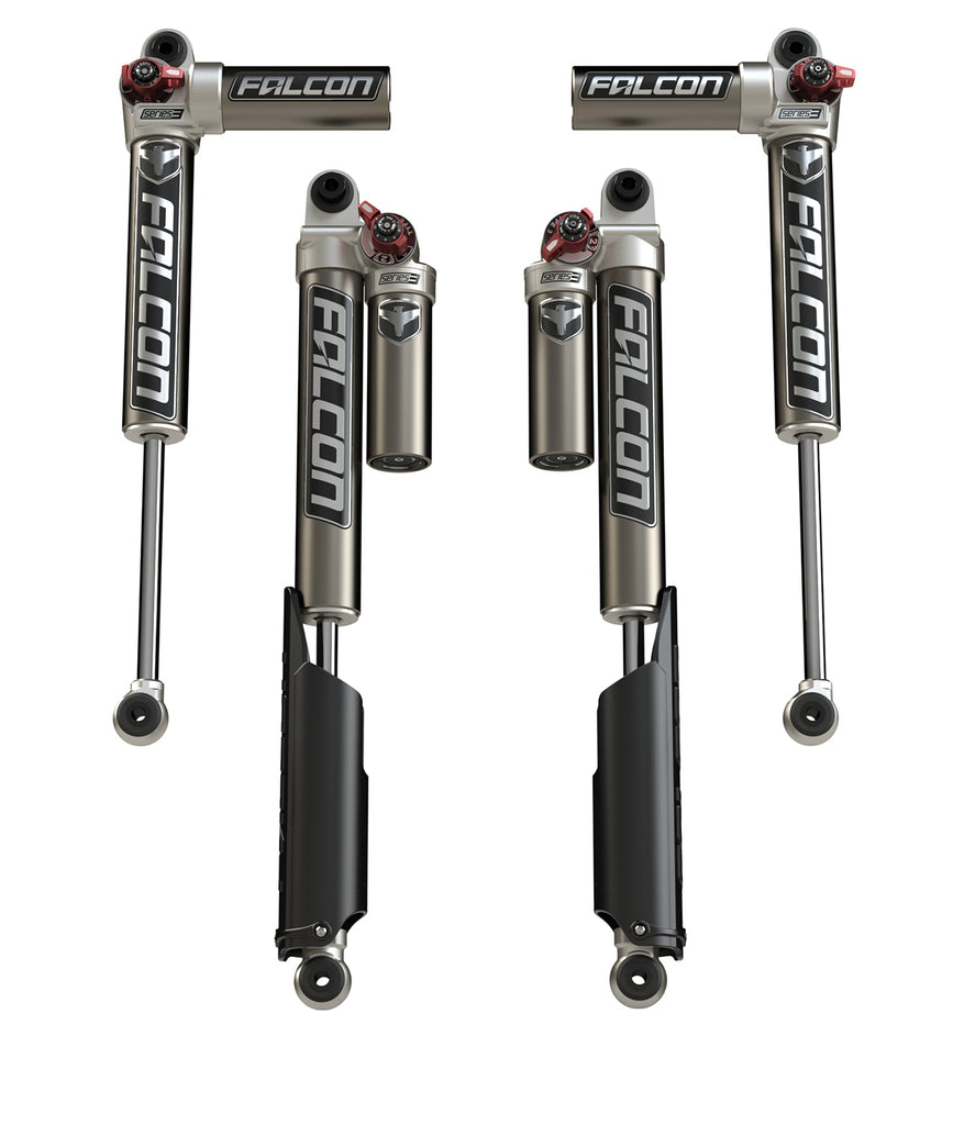 "TeraFlex Jeep JLU / JL Falcon Series 3.3 Fast Adjust Piggyback Shocks (2-4.5"" Lift) - All 4"