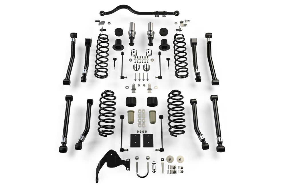"TeraFlex Jeep JKU 4-Door Outback Overland Suspension System (3"" Lift) - No Shocks"