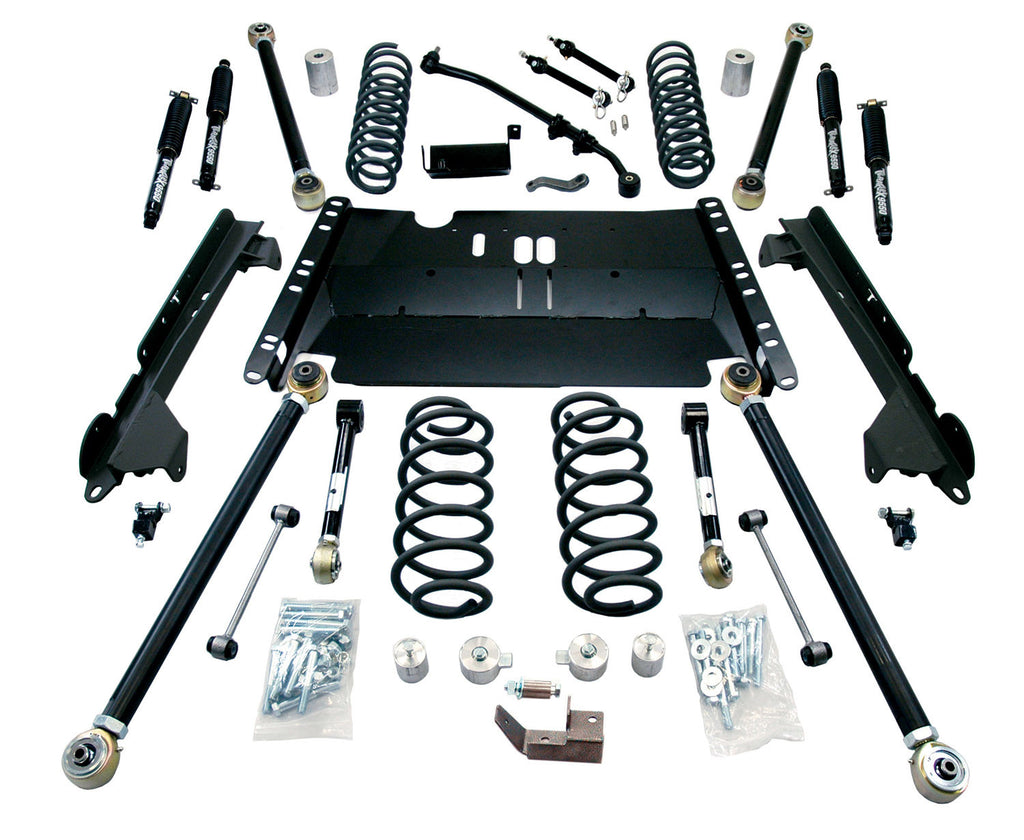 "TeraFlex Jeep TJ 4"" Enduro LCG Long Flexarm Suspension System w/ 9550 Shocks"