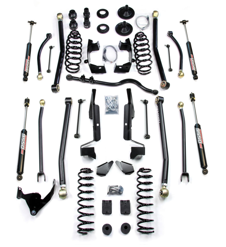 "TeraFlex Jeep JK 4-Door 4"" Elite LCG Long Flexarm Lift Kit w/ 9550 Shocks"