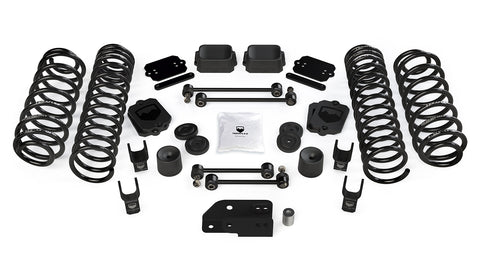 "TeraFlex Jeep JLU / JL 2.5"" Coil Spring Base Lift Kit & Shock Extensions"