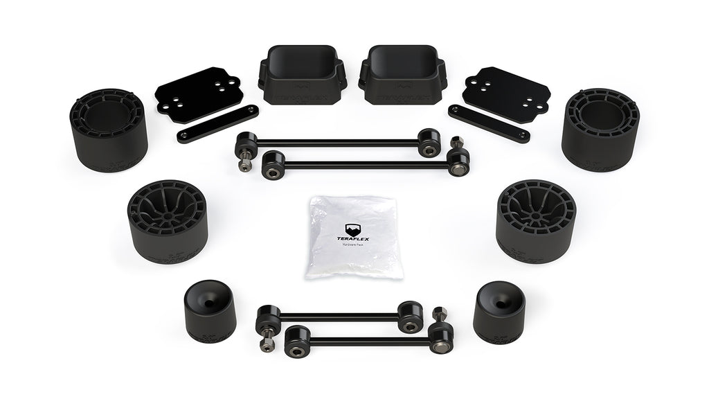 "TeraFlex Jeep JLU / JL Rubicon: 2.5"" Performance Spacer Lift Kit - No Shocks or Exts."