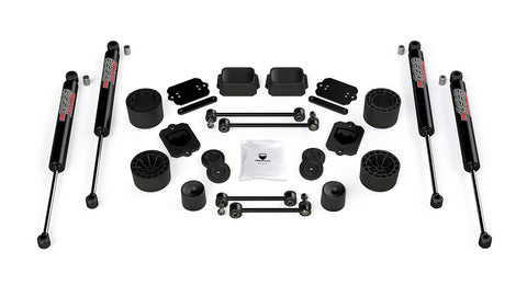 "TeraFlex Jeep JLU / JL Sport/Sahara: 2.5"" Performance Spacer Lift Kit & 9550 VSS Twin-Tube"
