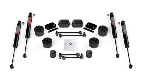 "TeraFlex Jeep JLU / JL Rubicon: 2.5"" Performance Spacer Lift Kit & 9550 VSS Shocks"