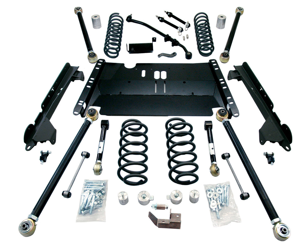 "TeraFlex Jeep TJ 4"" Enduro LCG Long Flexarm Suspension System - No Shocks"