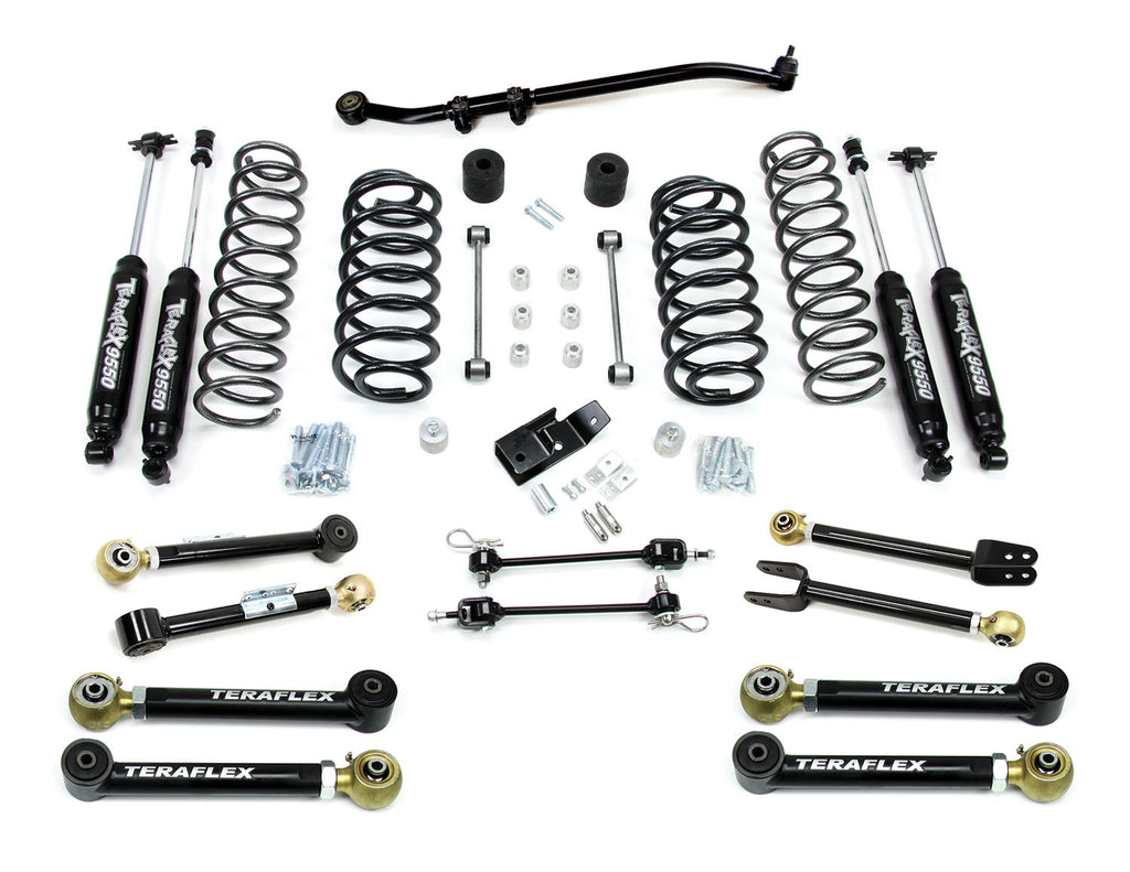 "TeraFlex Jeep TJ 3"" Lift Kit w/ 8 FlexArms, Trackbar & 9550 Shocks"