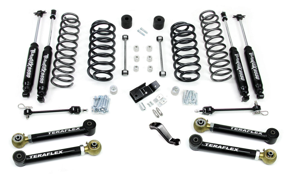 "TeraFlex Jeep TJ/LJ 4"" Suspension System w/ 4 Flexarms & 9550 Shocks"