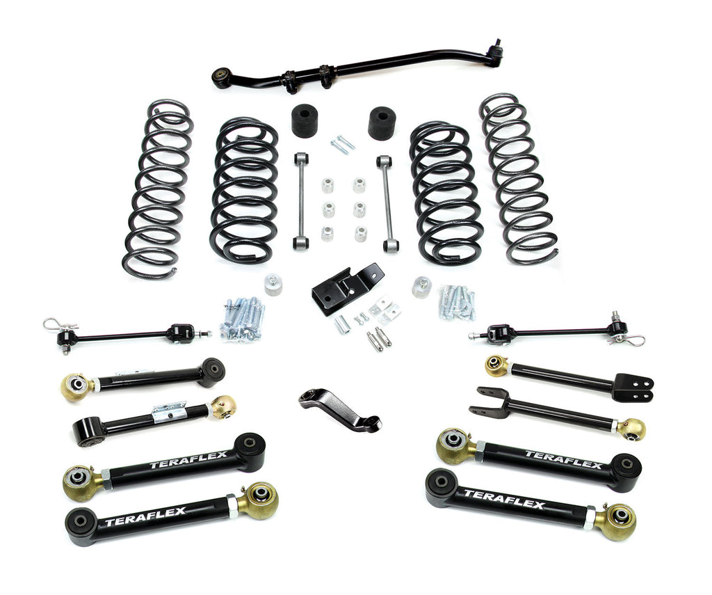 "TeraFlex Jeep TJ/LJ 4"" Suspension System w/ 8 Flexarms - No Shocks"