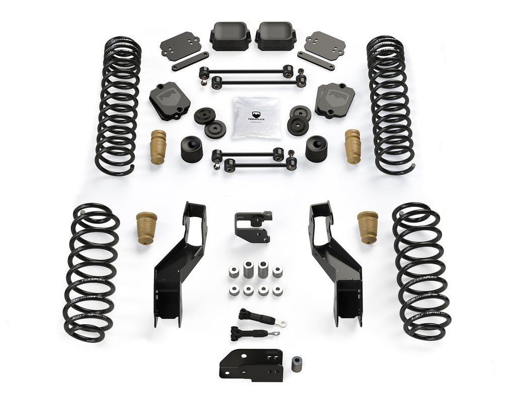 "TeraFlex Jeep JLU / JL 3.5"" Sport ST3 Suspension System – No Shock Absorbers"