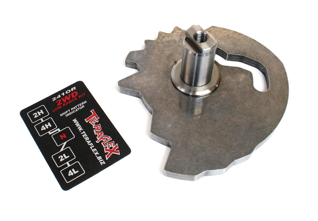 TeraFlex jeep JK 241OR 2Low 2WD Low Range Shift Sector Kit