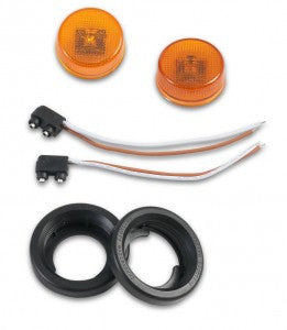 Warrior Products Jeep JK Front Tube LED Sidemarker Light Kit