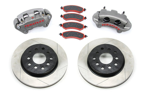 TeraFlex Jeep JK Front Big Brake Kit w/ Slotted Rotors