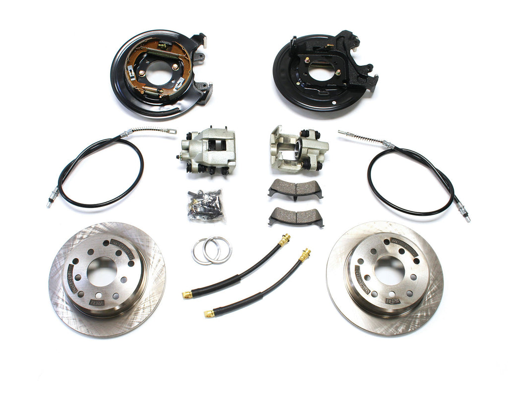 TeraFlex Jeep TJ Rear Disc Brake Conversion Kit w/ E-Brake Cables