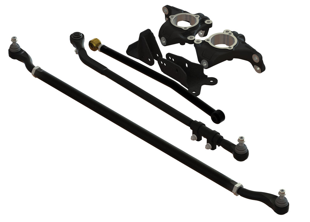 TeraFlex Jeep JK Complete High Steer System w/ HD Tie Rod & Drag Link Flip