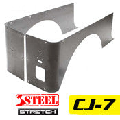 GenRight Jeep CJ7 Full Corner Guards STRETCH Opening - Steel