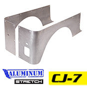 GenRight Jeep CJ7 Full Corner Guards STRETCH Opening - Aluminum