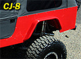 GenRight Jeep CJ-8 Scrambler Full Corner Guard Set Standard Opening - Steel