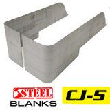 GenRight Jeep CJ5 Full Corner Guard Blanks - Steel