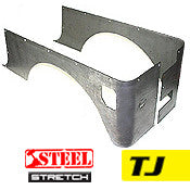 GenRight Jeep TJ Full Corner Guards STRETCH Opening - Steel