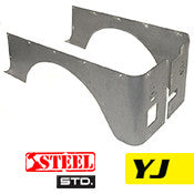 GenRight Jeep YJ Full Corner Guards Standard Opening - Steel
