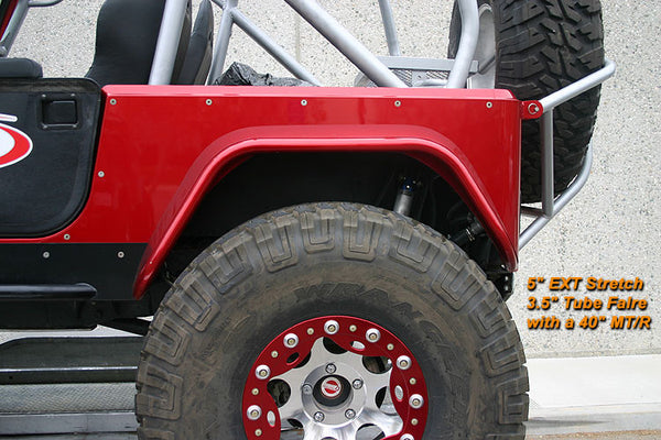 Genright Jeep Yj Full Corner Guards Stretch Opening