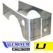 GenRight Jeep LJ Full Corner Guards STRETCH Opening - Aluminum