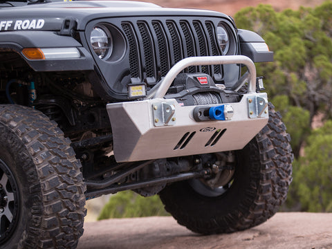 GenRight Jeep JL / JL FRONT BUMPER W/ WINCH GUARD BAR - ALUMINUM
