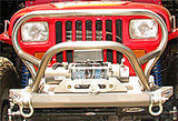 GenRight Jeep YJ Front Bumper w/ Trail Stinger - Steel